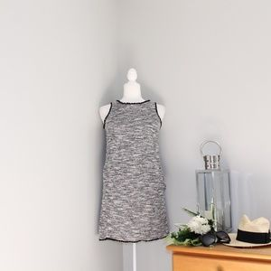 Loft Tweed Fringe Sheath Dress Sz XXSP